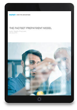 FactSet Pre-Payment Model ipad