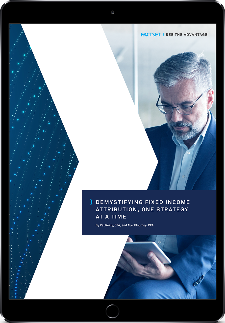Demystifying Fixed Income Attribution eBook